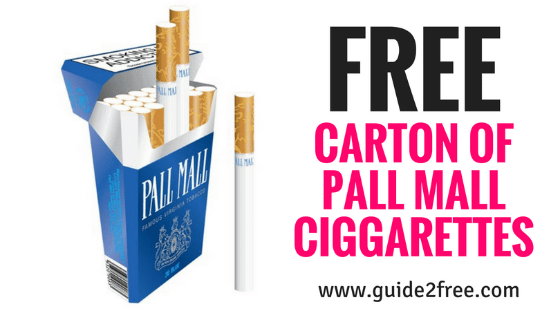 free carton pall mall ciggarette coupon guide2free samples