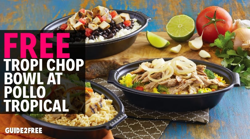 graphic relating to Pollo Tropical Printable Coupons titled Totally free Tropi Chop Bowl at Pollo Tropical Specialist2Cost-free Samples