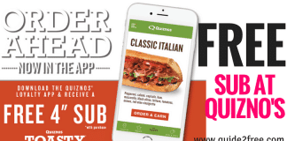 Quizno's Coupons - FREE Small Sub