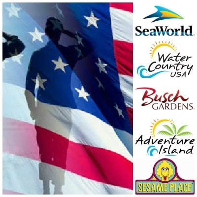 Free admission to seaworld busch gardens parks for military guide2free samples for Busch gardens free military tickets