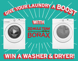 Enter to Win: FREE Washer and Dryer from Borax