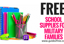 FREE School Supplies for Military Families
