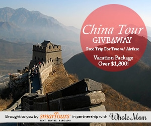 FREE Trip for 2 to China