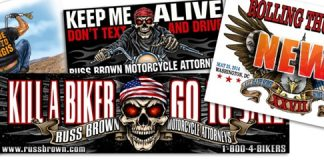 FREE Keep Me Alive and Kill a Biker Go to Jail Stickers