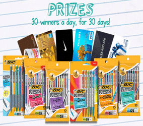 Bic Instant Win Game