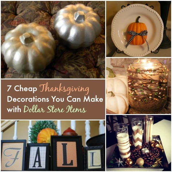 Cheap thanksgiving decorations you can make with dollar