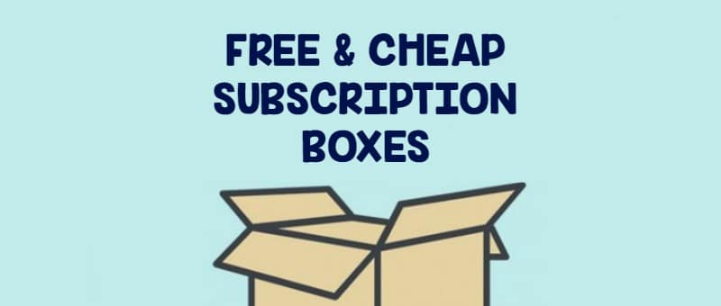 free and cheap subscription boxes