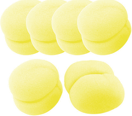 FREE 6 piece Yellow Sponge Ball Hair Styler Curler Roller Tool