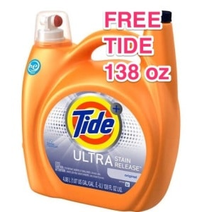 FREE 138 oz Bottle of Tide