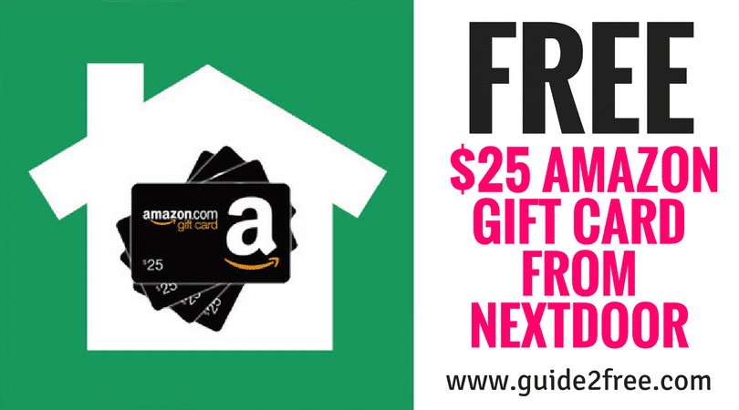 FREE $25 Amazon Gift Card from Nextdoor