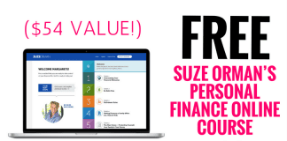 FREE Suze Orman's Personal Finance Online Course