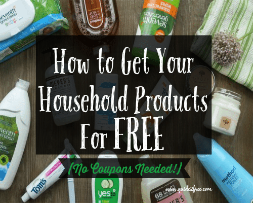 how to get your household items for free