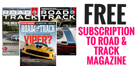SUBSCRIPTION TO ROAD & TRACK MAGAZINE