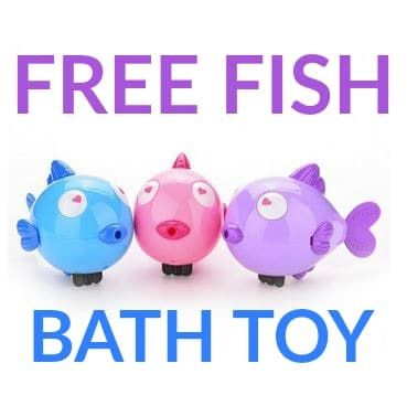 FREE Wind Up Fish Bath Toy