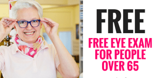 FREE Eye Exam For People over 65