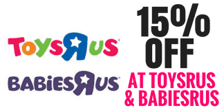 15% Your Purchase at Toys R Us & Babies R Us