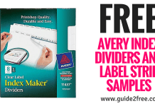 Avery Index Dividers and Label Strip Samples