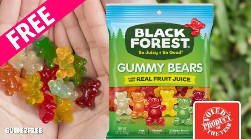 FREE Black Forest Gummy Bear Samples