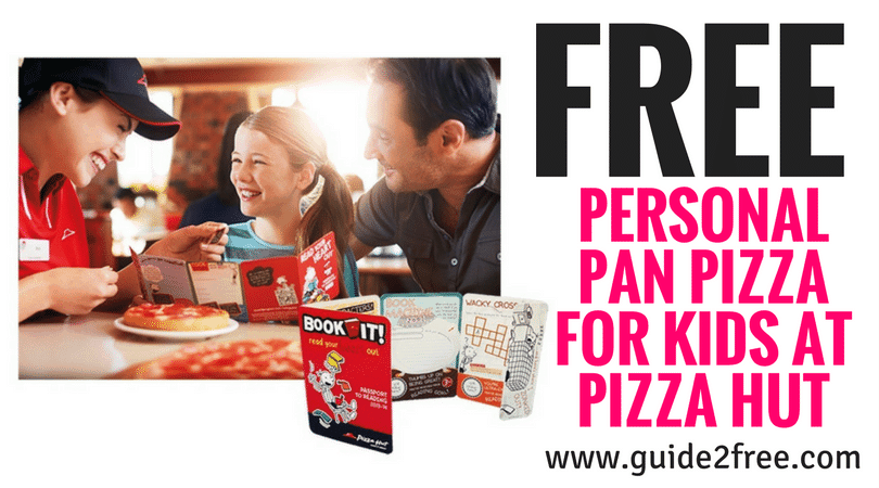 FREE Pizza Hut Pan Pizza from the BOOK IT! Reading Program