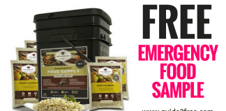 FREE SAMPLE OF EMERGENCY FOOD FROM RAINY DAY READY