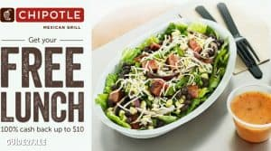 FREE Lunch at Chipotle