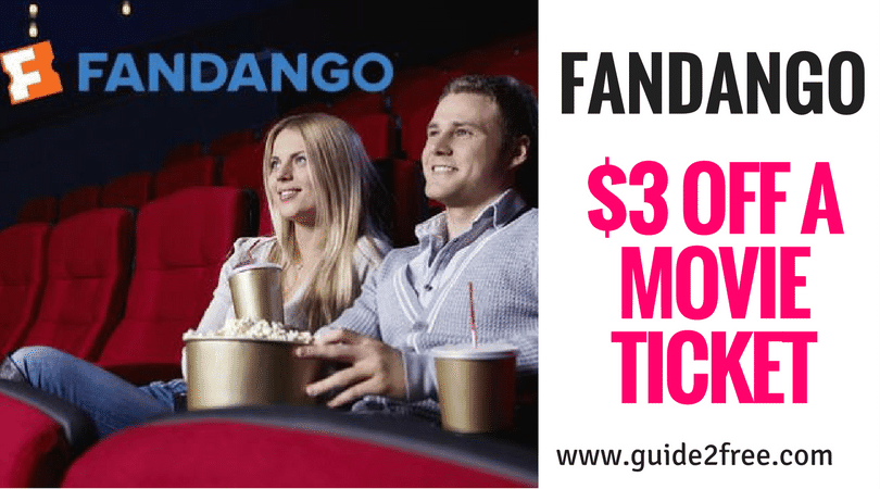 3 off a movie ticket from fandango � guide2free samples