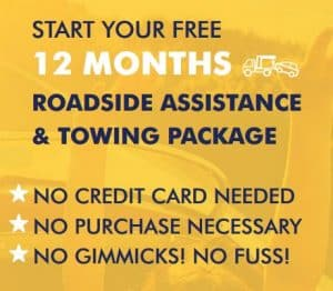 FREE 12 Months Roadside Assistance & Towing Package