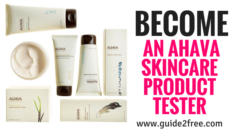 Become a AHAVA Skin Care Product Tester