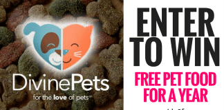 Enter to Win: FREE Pet Food for a Year