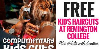 FREE Haircuts for Kids at Remington College