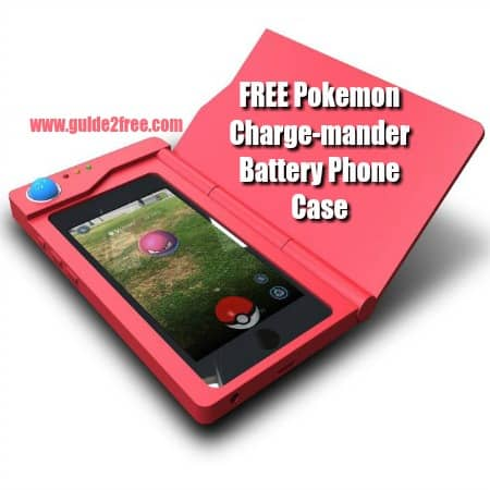 FREE Pokemon Charge-mander Battery Phone Case