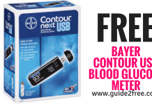 FREE Bayer Contour USB Blood Glucose Meter and Strips Kit