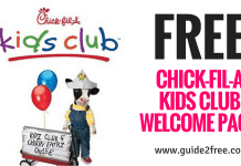 FREE CHICK-FIL-A KIDS CLUB WELCOME PACKET