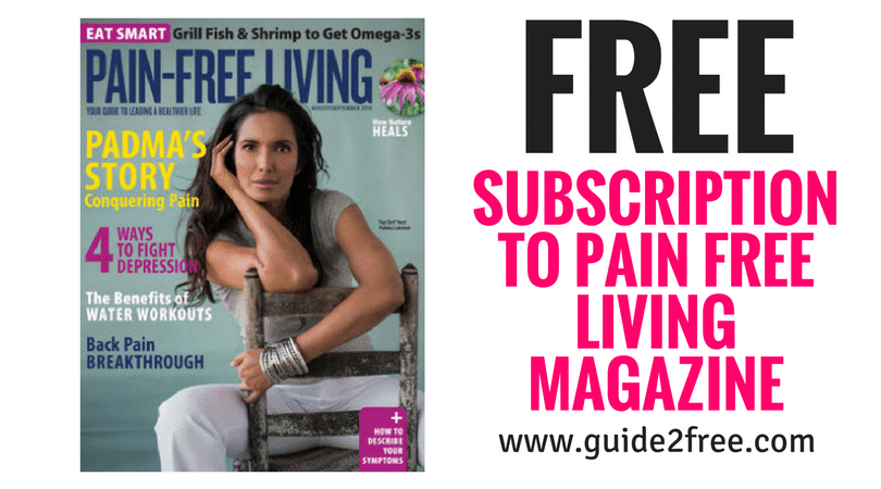FREE Subscription to Pain Free Living Magazine