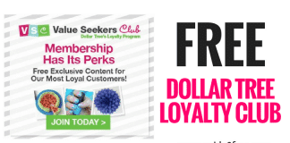 Join The Dollar Tree Value Seekers Club