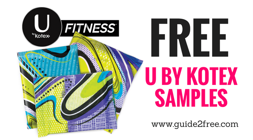 New samples of U by Kotex Fitness pads and tampons available!