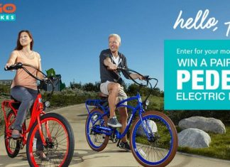 2 FREE Pedego Electric Bikes