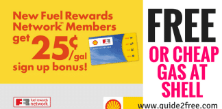 Shell Fuel Rewards: Possible Cheap or Even FREE Gas