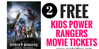2 FREE Kids Tickets to See Power Rangers Movie