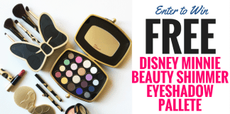 Enter to Win: FREE Disney Minnie Beauty Shimmer Eyeshadow Pallete