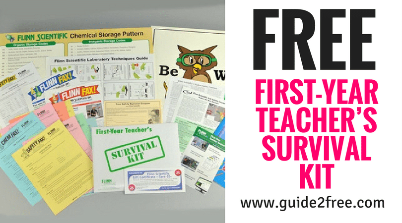 "Getting started in your first teaching job can be a real challenge and Flinn wants to help you succeed! Through various materials and live, personal assistance we will do everything we can to help ensure your career starts on the right foot. Please fill out the brief form below and we will send you a First Year Teacher Survival Kit which includes: Eight easy ""first-year"" demonstration ideas Reproducible ""Student Safety Contract"" Free Safety Eyewear Coupon and $25.00 Gift Certificate! Flinn Scientific Catalog/Reference Manual Sampler If you are not a new teacher, but know someone who will begin teaching science in the near future, please feel free to request a Survival Kit on their behalf. It's completely free and may help them get started in their career."