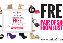 FREE Pair of Shoes from JustFab