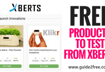FREE Products to Test from Xberts