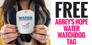 FREE Abbey's Hope Water Watchdog Tag
