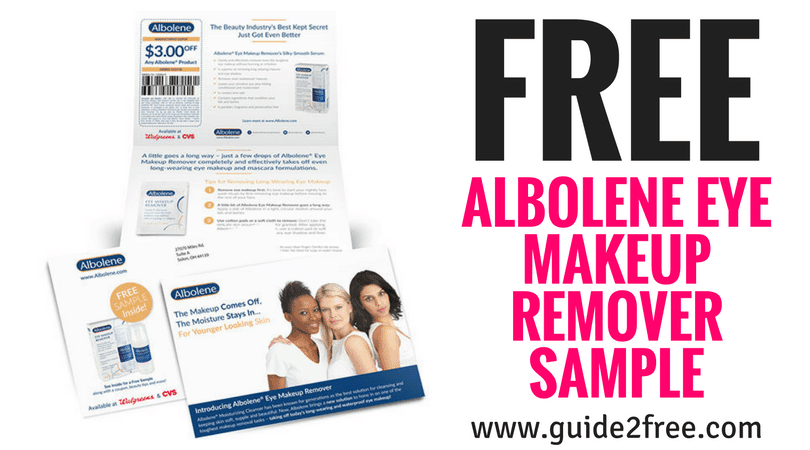 FREE Albolene Eye Makeup Remover Sample
