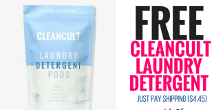 FREE Cleancult Laundry Detergent (Just Pay Shipping $4.45)