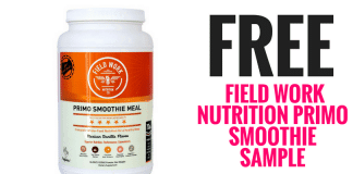 FREE Field Work Nutrition Primo Smoothie Sample