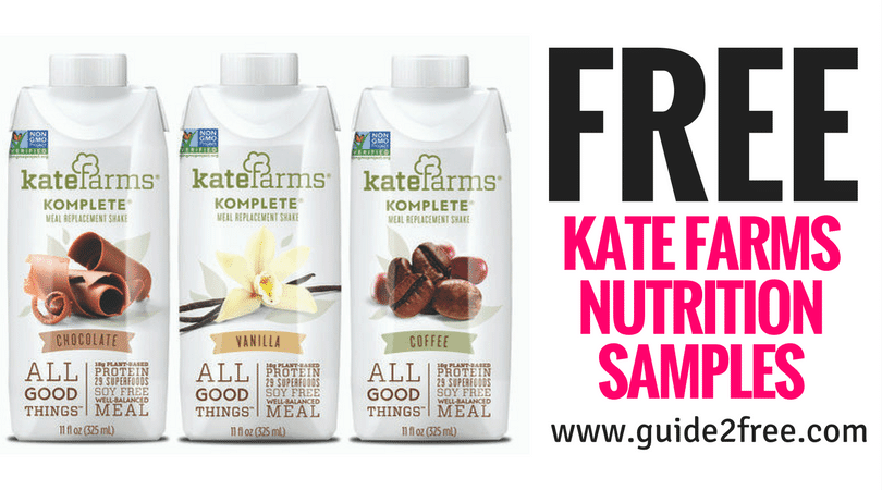 FREE Kate Farms Nutrition Samples