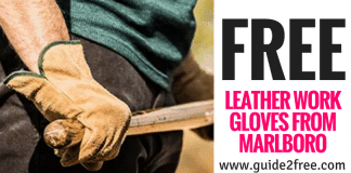 FREE Leather Work Gloves from Marlboro