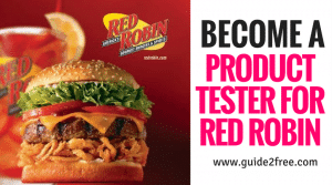 Become a Product Tester for Red Robin